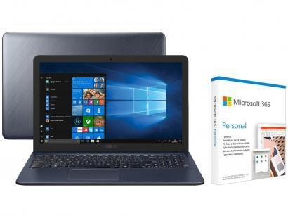 Notebook Asus VivoBook X543UA-GQ3213T Intel Core - i5 256GB SSD + Microsoft 365 Personal 1TB