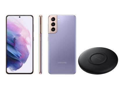 Smartphone Samsung Galaxy S21 128GB Violeta 5G - 8GB RAM + Carregador sem Fio Carga Rápida