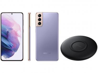 Smartphone Samsung Galaxy S21+ 128GB Violeta 5G - 8GB RAM + Carregador sem Fio Carga Rápida