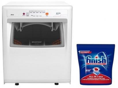 Lava-Louças Brastemp Ative! BLF08 AB - 8 Serviços + Detergente Finish Tabs 30 Unidades