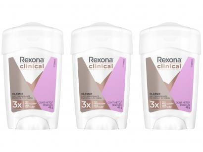 Kit Desodorante Rexona Clinical Antitranspirante - Feminino 48g 3 Unidades