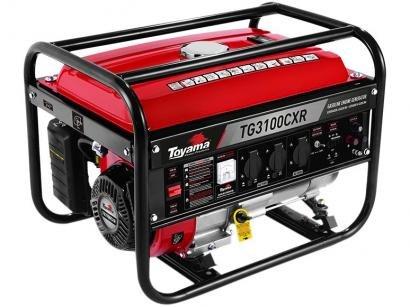 Gerador de Energia a Gasolina Toyama Monofásico - 4T Partida Manual 6.5 HP 3.1 kVA TG3100CXR
