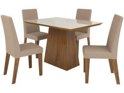 Mesa de Jantar 4 Cadeiras Retangular - Viero Móveis Londrina Vênus