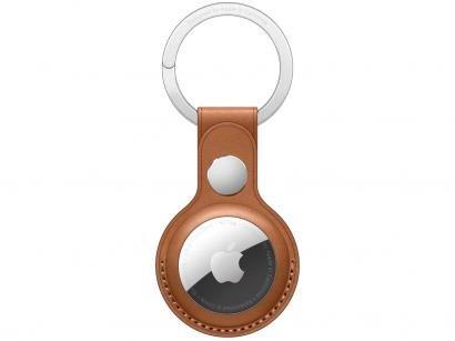 Chaveiro de couro para Apple AirTag - Castanho