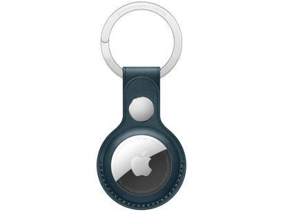 Chaveiro de couro para Apple AirTag - Azul-Báltico