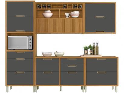 Cozinha Completa Cozinhas Nesher Imperatriz - com Balcão Nicho para Micro-ondas 7 Portas