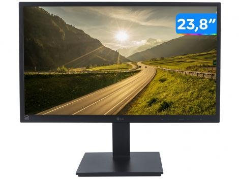 "Monitor para PC LG 23,8"" LED IPS Widescreen Full HD HDMI Display Port Pivot Altura Inclinação - Monitor para Computador"