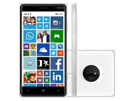 "Smartphone Nokia Lumia 830 4G Windows Phone - Câm. 10MP Tela 5"""