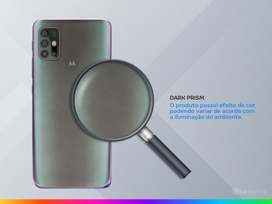"Smartphone Motorola Moto G30 128GB Dark Prism 4G - 4GB RAM Tela 6,5"" Câm. Quádrupla + Selfie 13MP"
