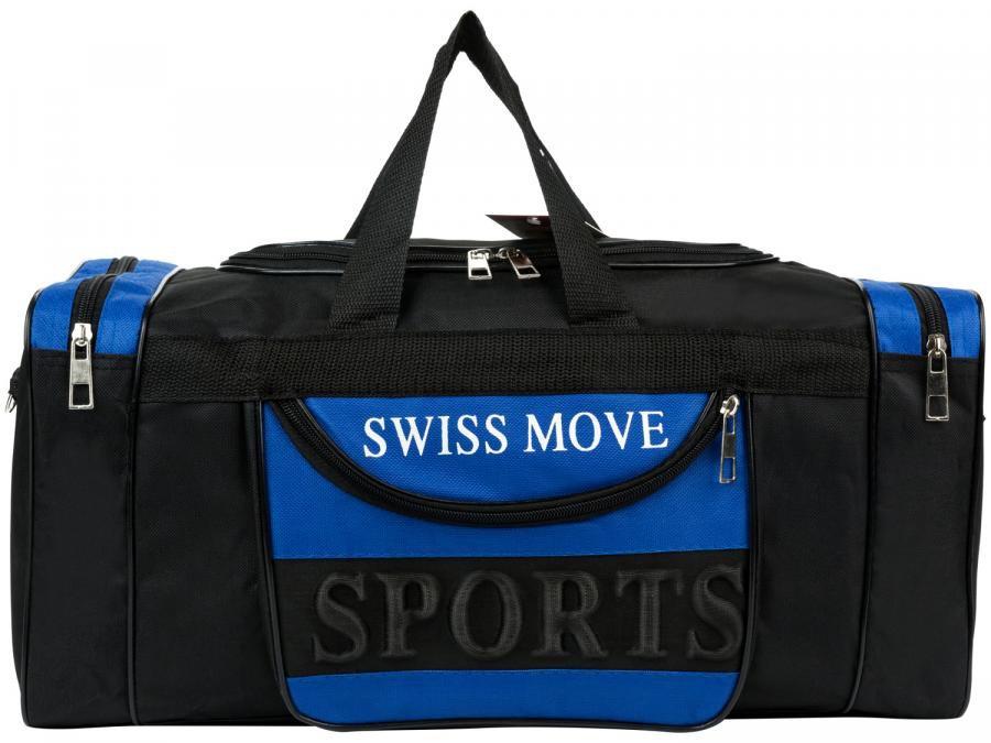 c926d556d Bolsa Unissex de Mão Swiss Move Sport Go - Preta e Azul