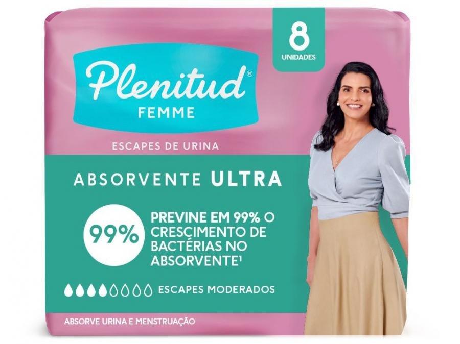 3524dd2bc Absorvente Plenitud Femme Ultra sem Abas - 8 Unidades ...