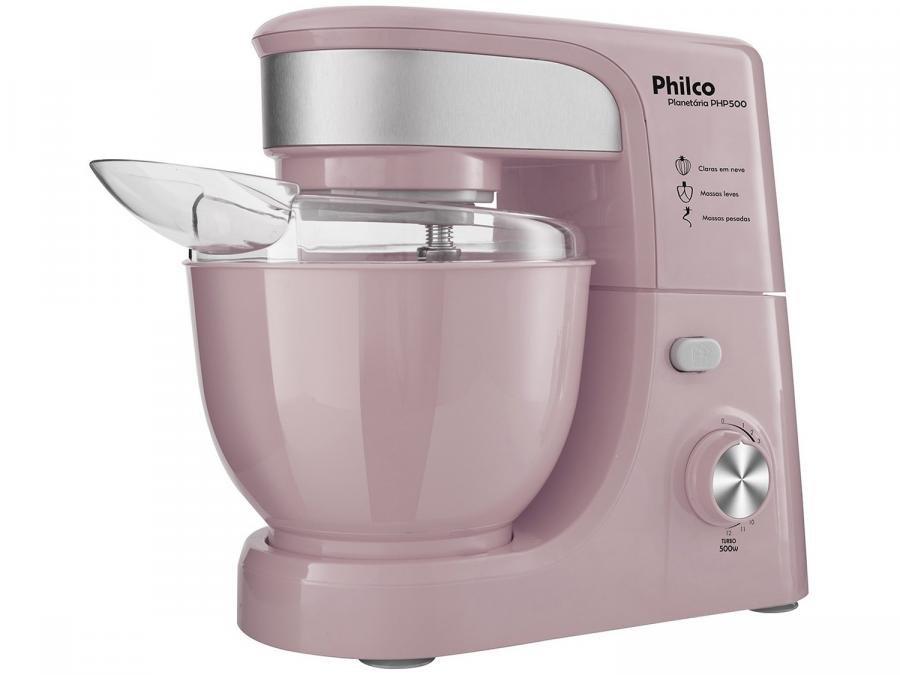 9e49fe800 Batedeira Planetária Philco Portátil Pink PHP500 - 500W 11 Velocidades